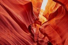 Понизьте каньон антилопы около страницы, Аризоны, США Стоковое Изображение