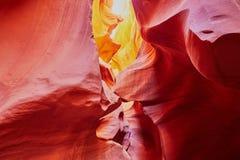 Понизьте каньон антилопы около страницы, Аризоны, США Стоковое Изображение RF