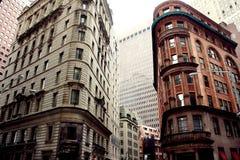 Понизьте Манхаттан, Уолл-Стрит, Нью-Йорк Стоковое Фото