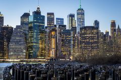 Понизьте Манхэттен Нью-Йорк Стоковое Изображение