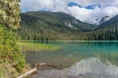 Понизьте озеро Joffre в Британской Колумбии стоковое фото rf