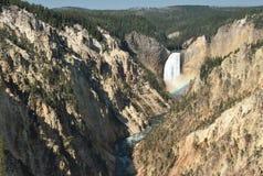 Понизьте падения, национальный парк Йеллоустона, Вайоминг стоковое фото rf