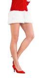 Понизьте - половину сексуальной девушки santa Стоковые Фото