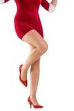 Понизьте - половину сексуальной девушки santa Стоковое Фото