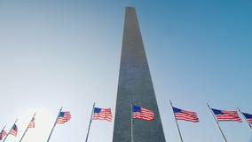 Понизьте снимая памятник Вашингтона пункта сток-видео