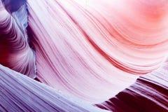 Понизьте страницу Аризону США текстур каньона антилопы Стоковые Фотографии RF