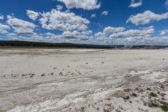 Понизьте таз гейзера, национальный парк Йеллоустона стоковые изображения rf