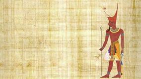 Понизьте фараона Египта на предпосылке папируса акции видеоматериалы
