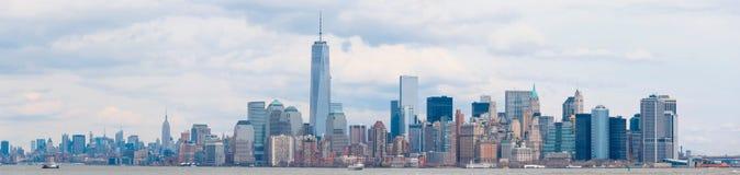 Понизьте mahattan взгляд в Нью-Йорке Стоковое Фото