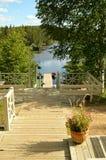 Понтон на озере Стоковое Фото