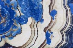Поперечное сечение абстрактного голубого вуртцита минерала фантазии Стоковая Фотография