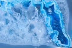 Поперечное сечение абстрактного голубого малахита фантазии Стоковые Изображения