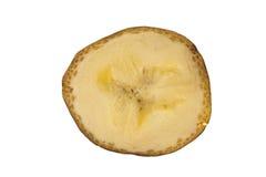 Поперечное сечение банана изолированное в белизне Стоковое фото RF