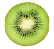 Поперечное сечение зрелого (изолированного) кивиа Стоковая Фотография RF