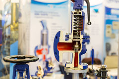 Поперечное сечение клапана водяной помпы, внутренний взгляд Стоковые Изображения RF