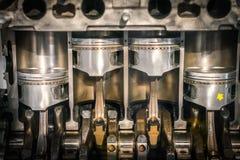Поперечное сечение поршеня двигателя Стоковое Фото