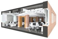 Поперечное сечение размеров офиса Стоковое Изображение