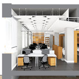 Поперечное сечение размеров офиса Стоковое фото RF