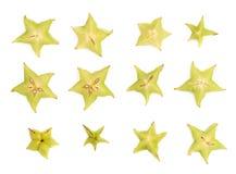 Поперечное сечение starfruit карамболы Averrhoa Стоковое Изображение
