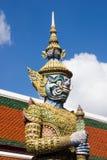 Попечитель демона в Wat Phra Kaeo, Бангкоке Wat Phra Kaew один o Стоковое Фото