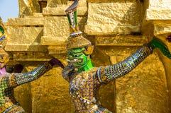 Попечитель демона в Wat Phra Kaeo Стоковая Фотография RF