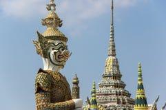 Попечитель демона в Wat Phra Kaeo Стоковые Изображения