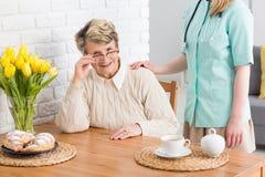 Попечитель для старшей женщины Стоковое Изображение