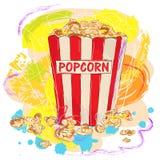 попкорн вкусный бесплатная иллюстрация