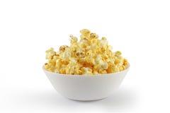 Попкорн в белом шаре Стоковые Изображения RF