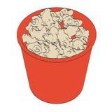 Попкорн в чашке Стоковые Изображения