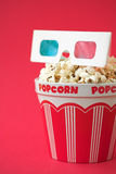 попкорн стекел ведра 3d стоковые фото