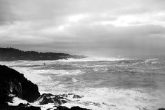 поплавайте вдоль побережья бурное Стоковое Изображение