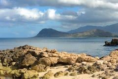 поплавайте вдоль побережья Гавайские островы oahu Стоковое Изображение RF