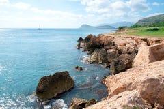 поплавайте вдоль побережья Гавайские островы oahu Стоковые Изображения RF