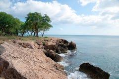 поплавайте вдоль побережья Гавайские островы oahu Стоковое Изображение