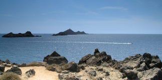 поплавайте вдоль побережья Корсика Стоковая Фотография