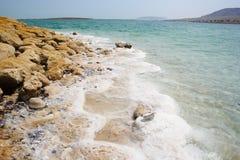 поплавайте вдоль побережья мертвое море Стоковые Изображения RF