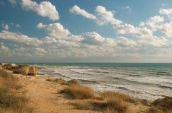 поплавайте вдоль побережья море Стоковое Изображение RF