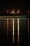 поплавайте вдоль побережья ноча Стоковое Изображение RF