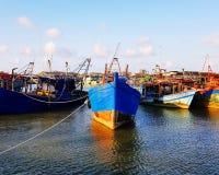 Поплавок рыбацких лодок на море Стоковое Фото