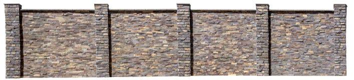 Попробуйте загородку естественного камня на белой предпосылке Стоковые Фотографии RF