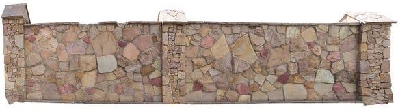 Попробуйте загородку естественного камня на белой предпосылке Стоковое фото RF