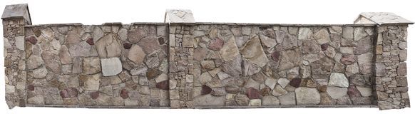 Попробуйте загородку естественного камня на белой предпосылке Стоковая Фотография
