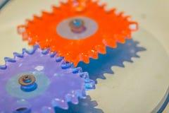 Попробуйте продукт пластичных шестерней cogwheel для образования цветасто Стоковые Фото