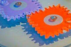 Попробуйте продукт пластичных шестерней cogwheel для образования цветасто Стоковая Фотография