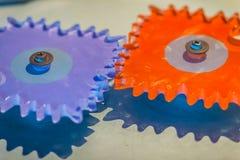 Попробуйте продукт пластичных шестерней cogwheel для образования цветасто Стоковое Фото