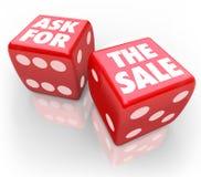 Попросите пари продажи примите шанс продавая клиентов правило Стоковые Изображения RF