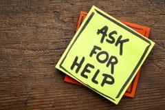 Попросите совет или напоминание помощи Стоковое Фото