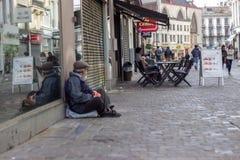 Попрошайка в Брюсселе Стоковые Фотографии RF