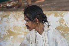 Попрошайка в Мьянме Стоковое фото RF